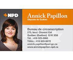 Annick Papillon, député NDP