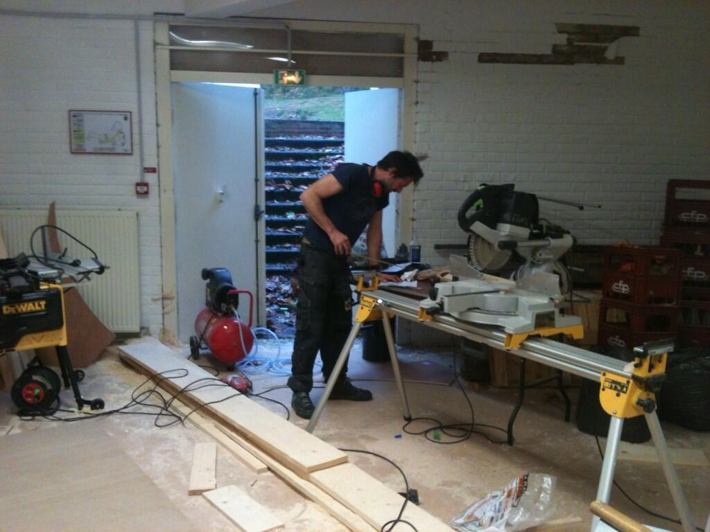 The woodshop of the FabLab in Grenoble