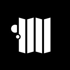 Pictogramme d'un personnage derrière un paravent