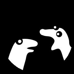 Pictogramme de deux chaussettes qui se parlent