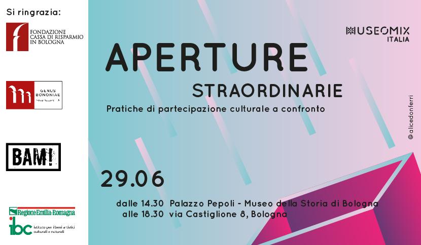 Aperture Straordinarie: un incontro pubblico a Bologna, a partire da Museomix