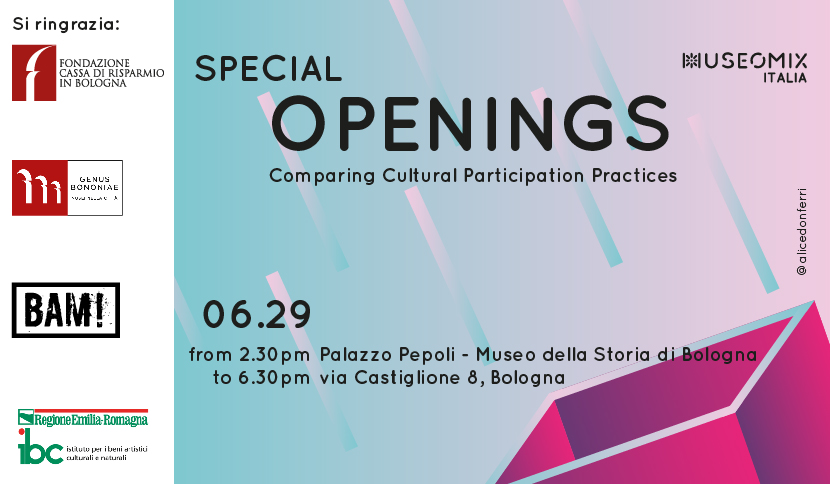 Special Openings: a public meeting in Bologna, Italy